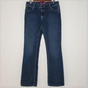 Wrangler bootcut pink logo jeans size 9/10